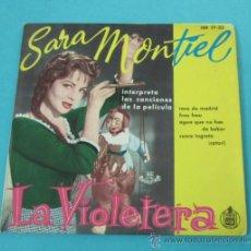 Musique de collection: CARÁTULA DISCO LA VIOLETERA. SARA MONTIEL. Lote 31800693