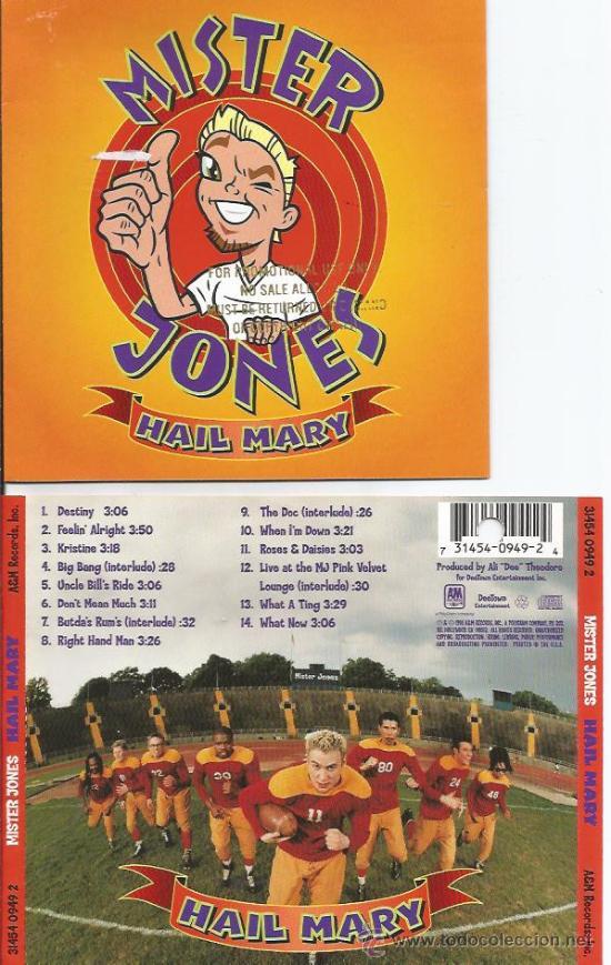 *** CAR86 - CARATULA CD - MISTER JONES - HAIL MARY
