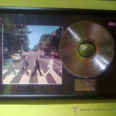 Música de colección: THE BEATLES - ABBEY ROAD / CUADRO DISCO DE PLATINO . Lote 33944646