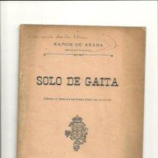Música de colección: 1501.- GALICIA-SOLO DE GAITA-RAMON DE ARANA-PIZZICATO-CORUÑA. Lote 33991220
