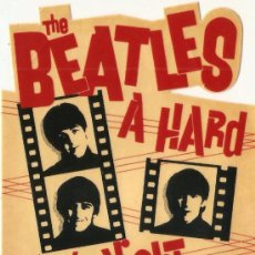 Música de colección: ADHESIVO THE BEATLES PELICULA A HARD DAY'S NIGHT. Lote 34137989