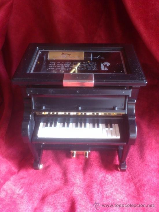 CAJITA DE MUSICA, JOYERO CON FORMA DE PIANO, PRECIOSA (Música - Varios)