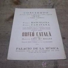 Musique de collection: 1702.-JULI GARRETA-ORFEO CATALA-SARDANA JUNY. Lote 35570621