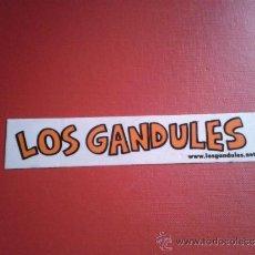 Música de colección: ADHESIVO PEGATINA GRUPO MUSICAL HUMORÍSTICO ARAGONÉS LOS GANDULES. Lote 36132366