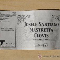 Música de colección: ENTRADA JOSELE SANTIAGO (ENEMIGOS), MASTRETTA, CLOVIS - RAZZMATAZZ - 2005. Lote 36381561