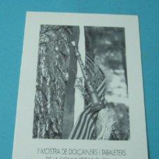 Música de colección: FOLLETO II MOSTRA DE DOLÇAINERS I TABALETERS DE LA COMUNITAT VALENCIANA. Lote 36879396