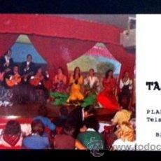 Música de colección: TARJETA PUBLICITARIA DEL TABLAO LOS TARANTOS - BARCELONA - AÑOS 60. Lote 37555000