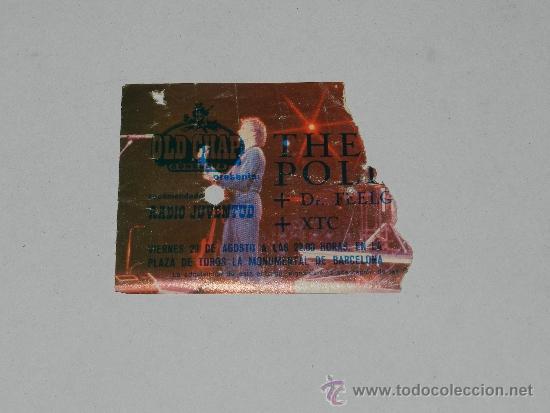 (M-ALB1) ENTRADA THE POLICE - PLAZA DE TOROS LA MONUMENTAL DE BARCELONA (Música - Varios)