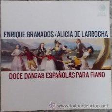 Música de colección: CARATULA DELANTERA. ENRIQUE GRANADOS. ALICIA DE LARROCHA. DOCE DANZAS ESPAÑOLAS PARA PIANO.CARATU-40. Lote 39618666