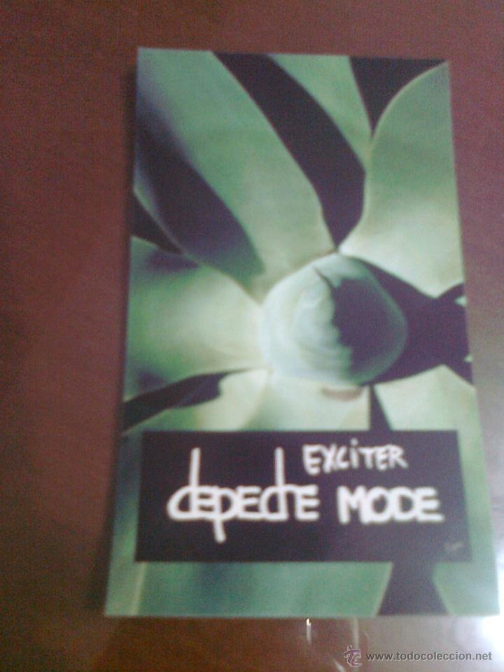 STICKER PEGATINA GRUPO MUSICAL DEPECHE MODE ALBUM EXCITER AÑO 2001 12,5 CM X 7,5 CM APROX. ADHESIVO (Música - Varios)