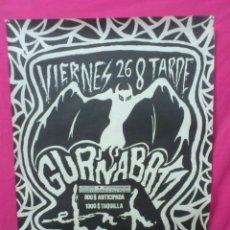 Música de colección: . CARTEL ACTUACION: GURNABATZ. SALA EN BRUTO ZARAGOZA. Lote 39799206