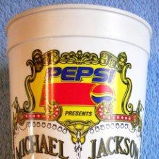 Música de colección: VASO PARA LOS REFRESCOS EXCLUSIVO PARA EL - DANGEROUS WORLD TOUR - MICHAEL JACKSON.. Lote 39907770