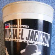 Música de colección: VASO PARA LOS REFRESCOS EXCLUSIVO PARA EL - DANGEROUS WORLD TOUR DE MICHAEL JACKSON.. Lote 39908112