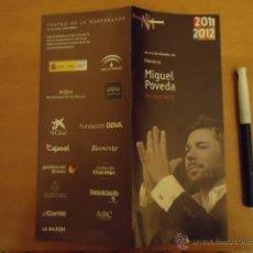 Música de colección: PUBLICIDAD CANTANTE MIGUEL POVEDA EN CONCIERTO FLAMENCO. Lote 40054569