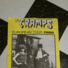 Música de colección: POSTER THE CRAMPS EUROPEAN TOUR 1986 ORIGINAL NEW ROSE RECORDS A DATE WITH ELVIS ALBUM MUY RARO!. Lote 40237961