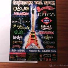 Música de colección: FLYER LEYENDAS DEL ROCK Y AUPA LUMBREIRAS 2011 (WARCRY, BARÓN, EVO, TAKO, PORRETAS, TXARRENA, NARCO,. Lote 40300362