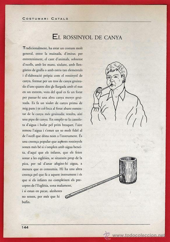 Música de colección: hoja - instruments musicals cultura popular catalana - el rigo-rago / rev. el rossinyol - ver foto - Foto 2 - 40377299