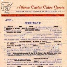 Música de colección: CONTRATO AGENTE ACTUACION NARANJITO DE TRIANA ,EN FESTIVAL FLAMENCO DE MELILLA, 1974, . Lote 41577318