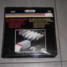 Música de colección: KIT LIMPIADOR PARA CD'S Y OPTICAS - LIQUIDO PARA OPTICAS,CD LIMPIADOR,GAMUZA,CEPILLO,LIQ PARA CD - T. Lote 41762716