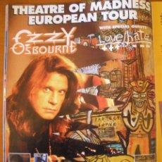 Música de colección: OZZY OSBOURNE + LOVE / HATE ANUNCIO GIRA 1992 MAGAZINE ADVERT. Lote 42827147
