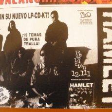 Música de colección: HAMLET REVOLUCIÓN 12.111 1996 PROMO MAGAZINE ADVERT. Lote 42832189