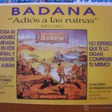Música de colección: BADANA ADIOS A LAS RUINAS 1996 PROMO MAGAZINE ADVERT. Lote 42833466