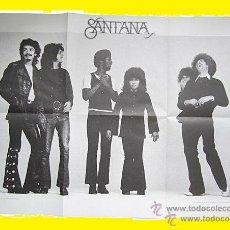 Música de coleção: SANTANA / POSTER 1970 ( ORIGINAL ABRAXAS EDICION CANADA ) !!! GRAN TAMAÑO, TODO IMPECABLE !!!!. Lote 43053103