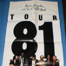 Música de colección: BRUCE SPRINGSTEEN AND THE E STREET BAND CARTEL 83,5X45 TOUR 1981. Lote 43286117