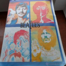 Música de colección: THE BEATLES FOUR FACES PSYCHEDELIC PÓSTER, 55X37 PULGADAS, ENROLLADO (ROLLED). Lote 43623419