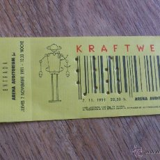 Música de colección: ENTRADA ORIGINAL KRAFTWERK VALENCIA ARENA AUDITORIUM 1991 . Lote 43833494