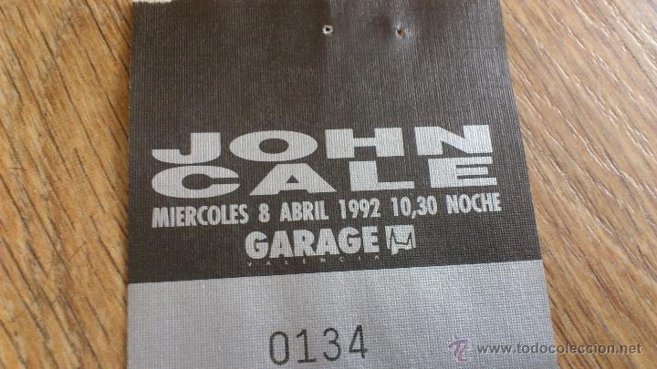 Música de colección: Entrada Original John cale 1992 Garage valencia - Foto 2 - 43833625