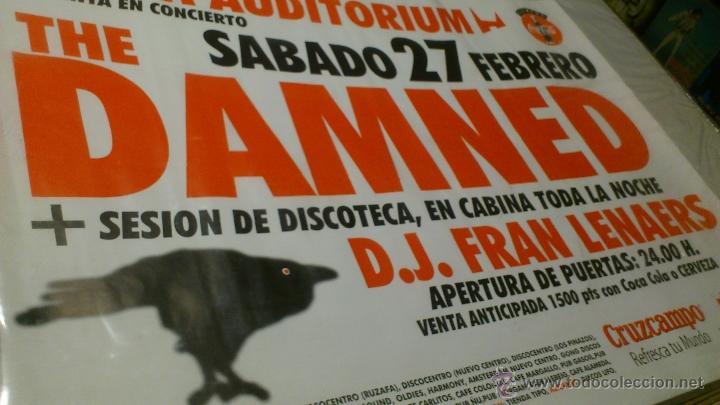 CARTEL POSTER CONCIERTO THE DAMNED VALENCIA ARENA UDITORIUM + DJ FRAN (Música - Varios)
