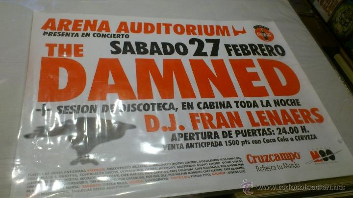 Música de colección: Cartel Poster Concierto The damned Valencia Arena uditorium + Dj Fran - Foto 2 - 43867440