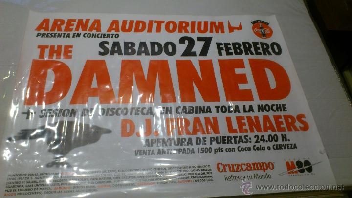 Música de colección: Cartel Poster Concierto The damned Valencia Arena uditorium + Dj Fran - Foto 3 - 43867440