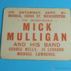 Música de colección: FOLLETO PUBLICITARIO ACTUACIÓN MICK MULLIGAN AND HIS BAND: GEORGE MELLY, JO LENNARD,MICHAEL LAWRENCE. Lote 44117545