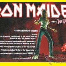 Música de colección: IRON MAIDEN THE HISTORY OF PART 1, EARLY DAYS, POSTER PROMOCIONAL !!!. Lote 44697136