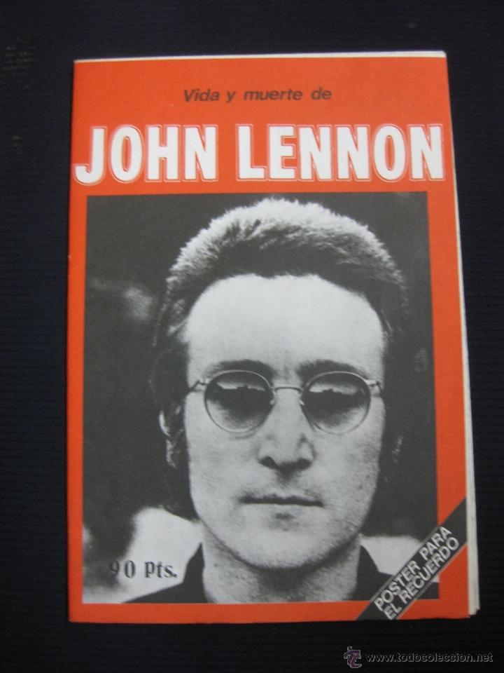 VIDA Y MUERTE DE JOHN LENNON. POSTER PARA EL RECUERDO.1980. (Música - Varios)