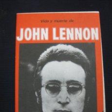 Música de colección: VIDA Y MUERTE DE JOHN LENON. POSTER PARA EL RECUERDO.1980.. Lote 44785732