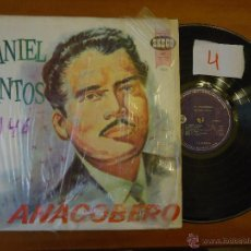 Música de colección: DISCO VINILO RARO - DANIEL SANTOS , EL ANACOBERO - SEECO , MONOFONICO DISCOS FUENTES . Lote 45294954