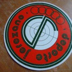 Música de colección: ANTIGUA PEGATINA DEPORTE JEREZANO JEREZ CADIZ. Lote 45299867