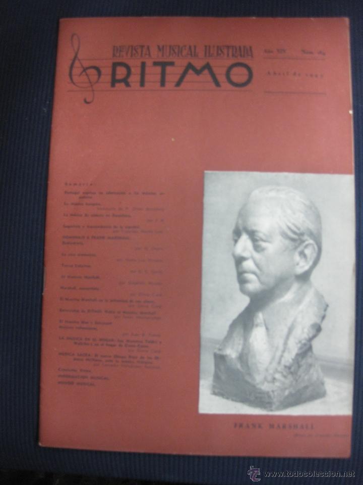 RITMO Nº 164. ABRIL 1943.REVISTA MUSICAL ILUSTRADA.FRANK MARSHALL. (Música - Varios)