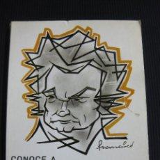 Música de colección: CONOCE A BEETHOVEN. RAMON RUIZ LLOREDA.1ª EDICION NOVIEMBRE DE 1984.. Lote 45860632