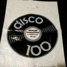 Música de colección: BOLSA ANTIGUA DISCOS LP - DISCO 100 - BARCELONA - ESCORIAL 100 - PUBLICIDAD - AÑOS 80. Lote 106670135