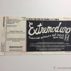 Música de colección: R3878 ENTRADA TICKET EXTREMODURO ROBANDO PERCHAS DEL HOTEL GIRA 2012 BARAKALDO. Lote 46486138