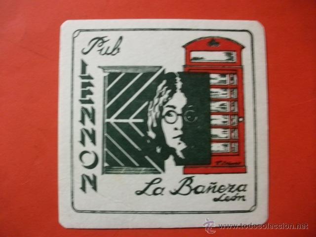 POSAVASOS PUB LENNON LA BAÑEZA LEÓN BEATLES (Música - Varios)