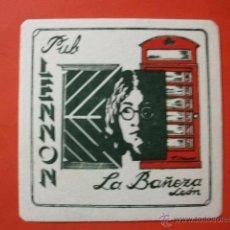 Música de colección: POSAVASOS PUB LENNON LA BAÑEZA LEÓN BEATLES. Lote 46789590