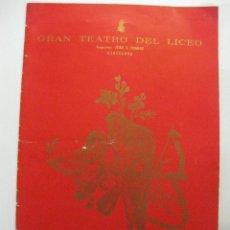Música de colección: GRAN TEATRO DEL LICEO. ORQUESTA FILARMONICA DE VIENA. FIESTAS DE LA MERCED 1965.. Lote 47438068