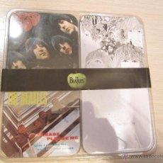 Música de colección: SET 4 POSAVASOS LOS BEATLES. Lote 47621594
