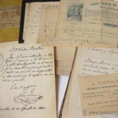Musique de collection: LOTE DE DOCUMENTOS ANDRÉS TORRALBA. REFERENTES A LA VENTA Y AFINACIÓN DE PIANOS Y ÓRGANOS. 1860-1901. Lote 47621661