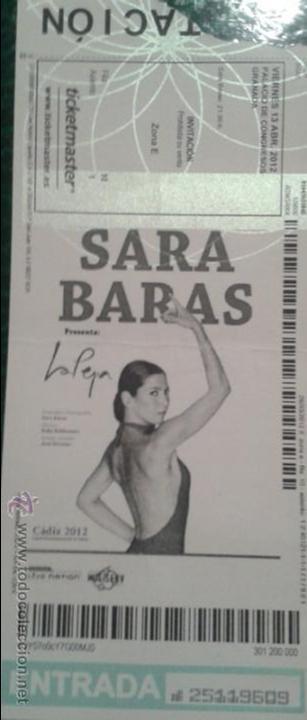 ENTRADA SARA BARAS (Música - Varios)